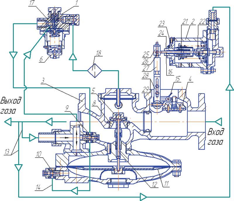 Регулятор давления РДГБ-50Н/25