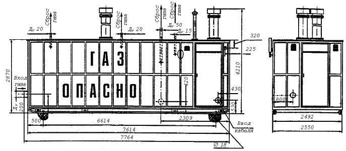 Газорегуляторный пункт блочный ПГБ-150-СГ-ЭК