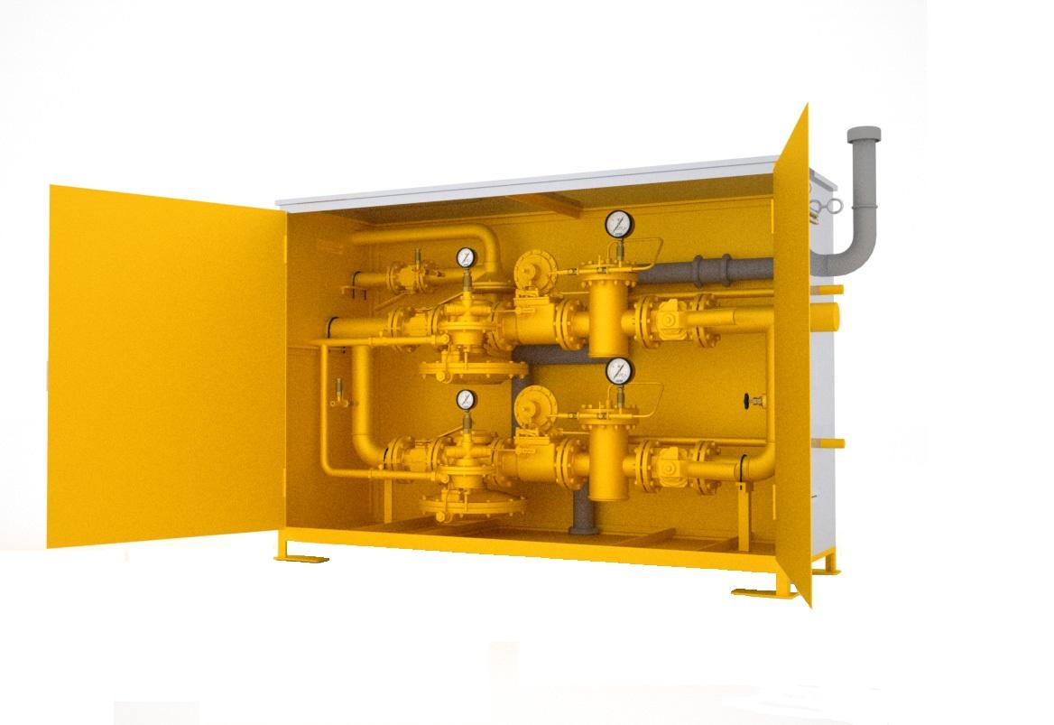 Пункт шкафной газорегуляторный с газовым обогревом ГСГО-НН (НС, НВ, СС, СВ, ВВ)